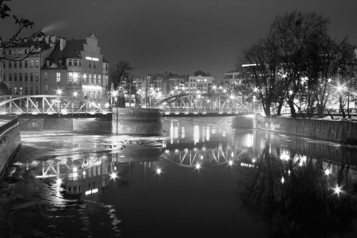 Mosty Młyńskie Wrocław - czarno białe - numer katalogowy fototapety W_1630