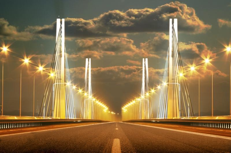 Most Milenijny Wrocław - impresja - numer katalogowy fototapety W_2052